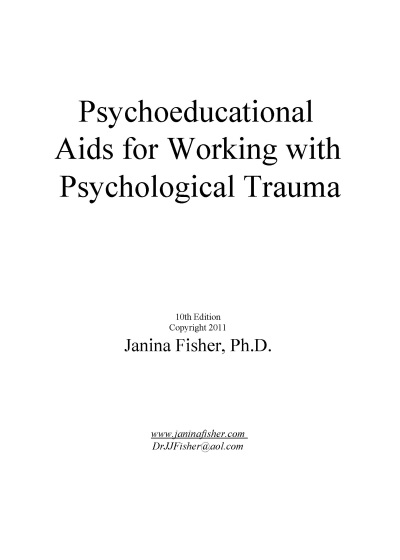 Psychoeducational Aids for Working with Psychological Trauma | Psychoeducational Flip Chart